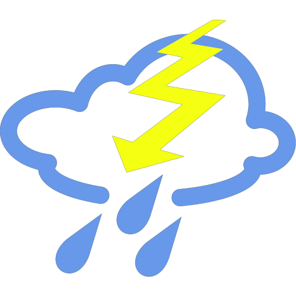 Thunder Storms Weather Symbol PNG Clip art
