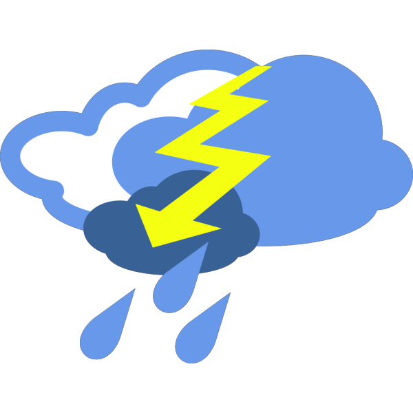 Severe Thunder Storms Weather Symbol PNG Clip art