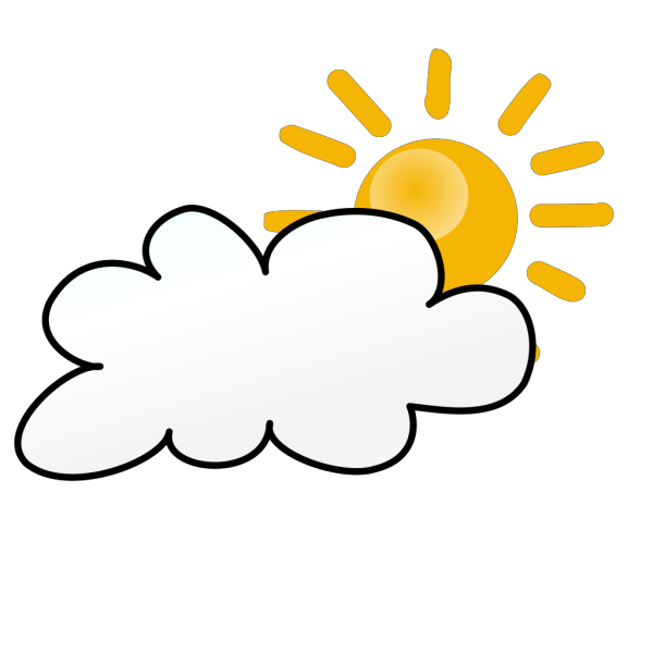 Cloudy Weather Symbols PNG Clip art