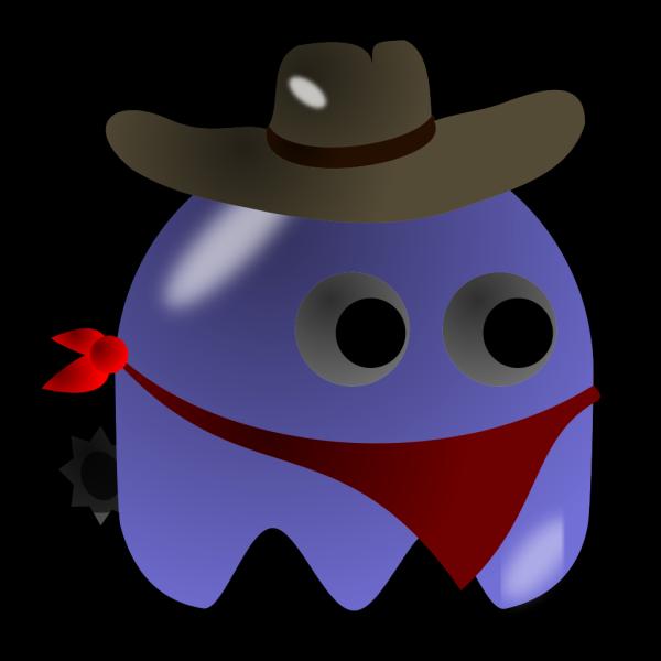 Pcman Game Baddie Cowboy PNG Clip art