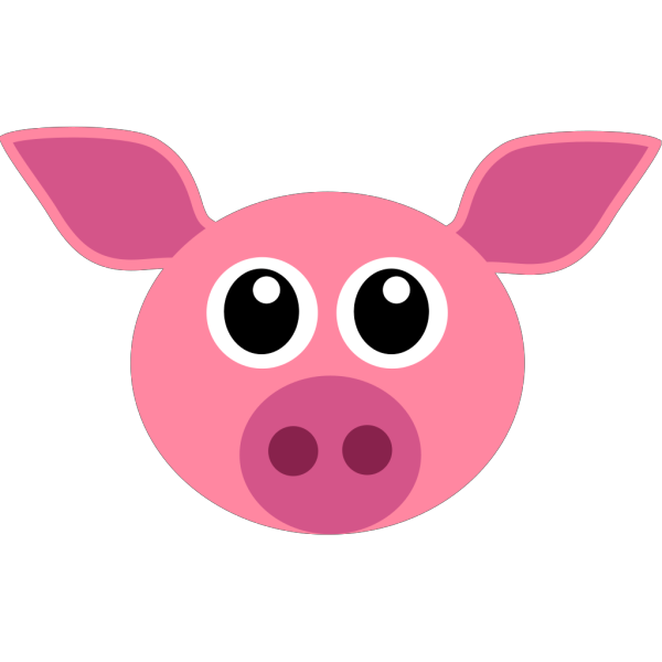 Pink Pig PNG clipart