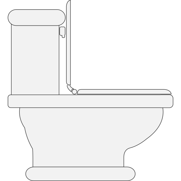 Toilet Seat Open PNG clipart
