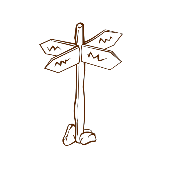 Crossroads Sign PNG Clip art