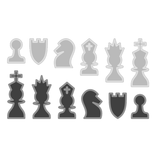 Chess Pieces Gallery PNG Clip art