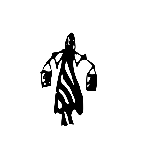Tribal Art Lady Carrying Water Buckets On Shoulders PNG Clip art