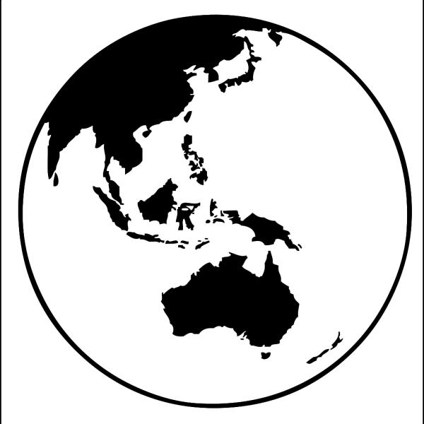 Earth Globe Oceania PNG Clip art