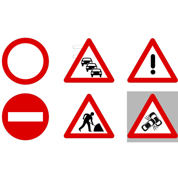 Road Traffic Signs PNG Clip art