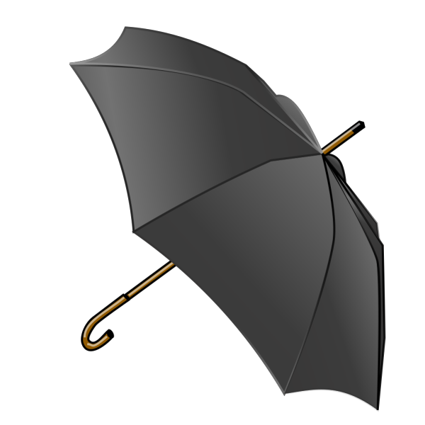 Black Umbrella PNG Clip art