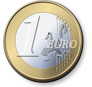 One Euro Coin 2 PNG Clip art