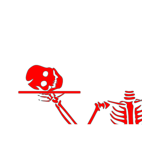 Stacked Skeleton Heads PNG Clip art