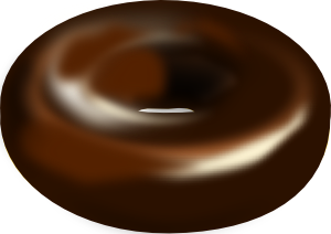 Dark Chocolate Donut PNG Clip art