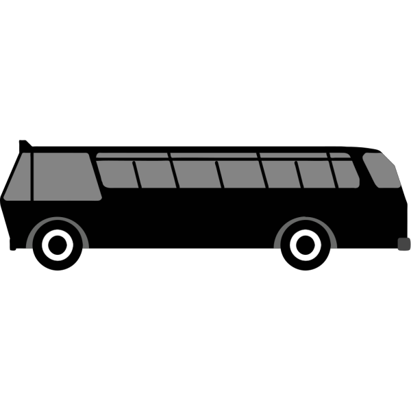 Bus Side View PNG Clip art