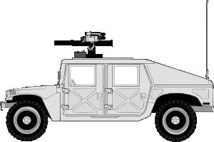 Armed Hummer PNG Clip art