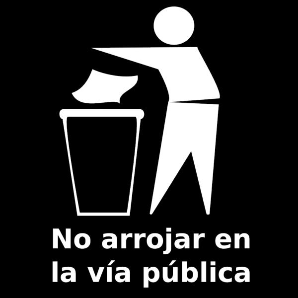 Spanish Trash Bin Sign PNG Clip art