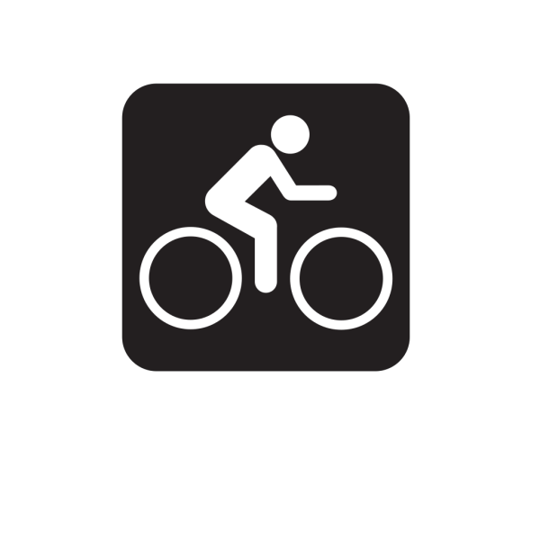 Bicycle Trail Black PNG images