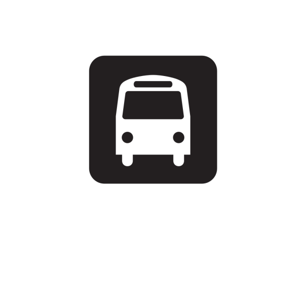 Bus Stop Black PNG icons