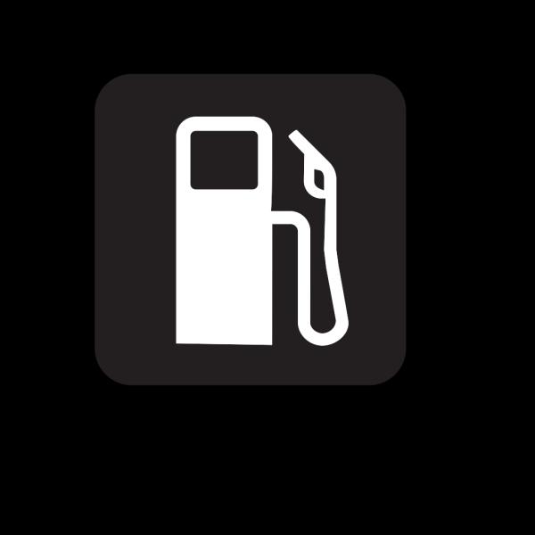 Gas Station Black PNG Clip art