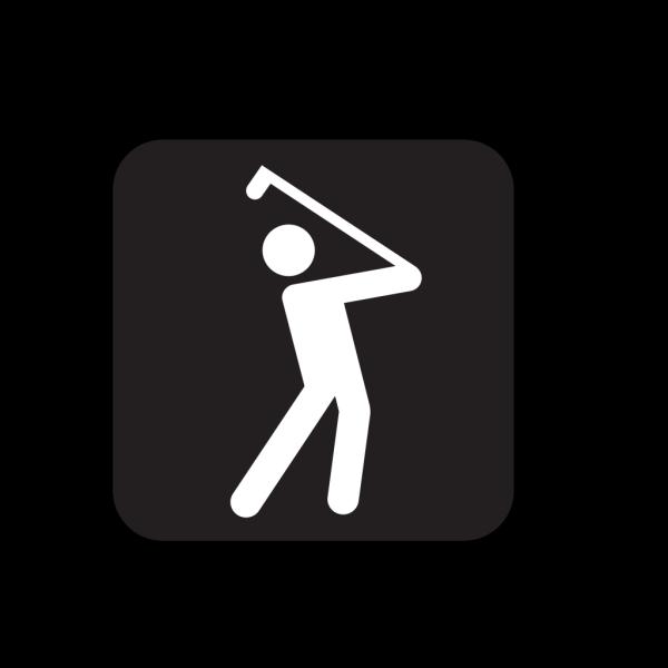 Golfing Black PNG Clip art