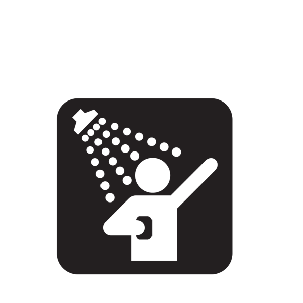 Showers Black PNG clipart