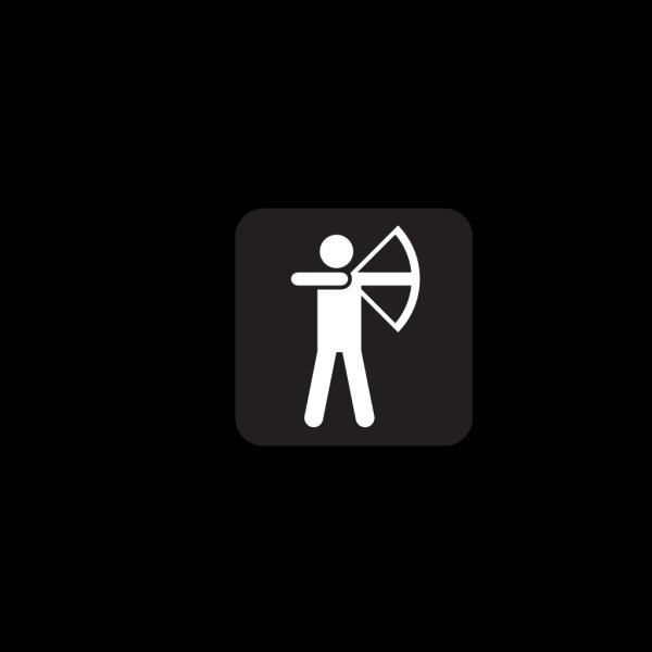 Archery Black PNG Clip art