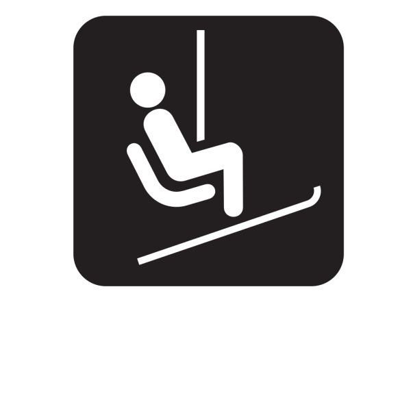 Chair Lift Ski Lift Black PNG Clip art