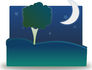 Landscape By Night PNG Clip art