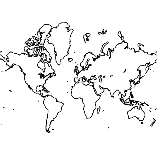 World Map PNG Clip art