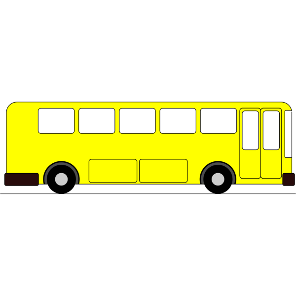 Yellow Bus PNG Clip art