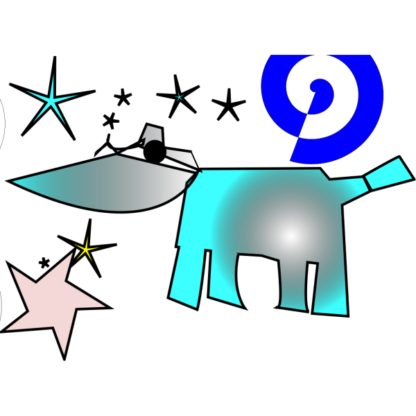 Cow And Stars PNG Clip art