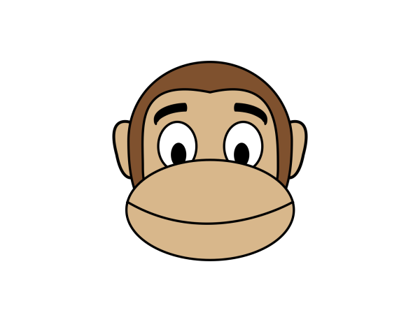 Monkey Rounded Face PNG Clip art