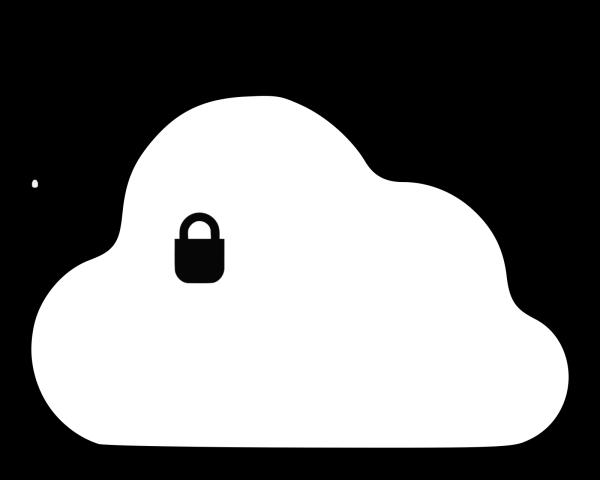 Blue Glassy Cloud PNG Clip art