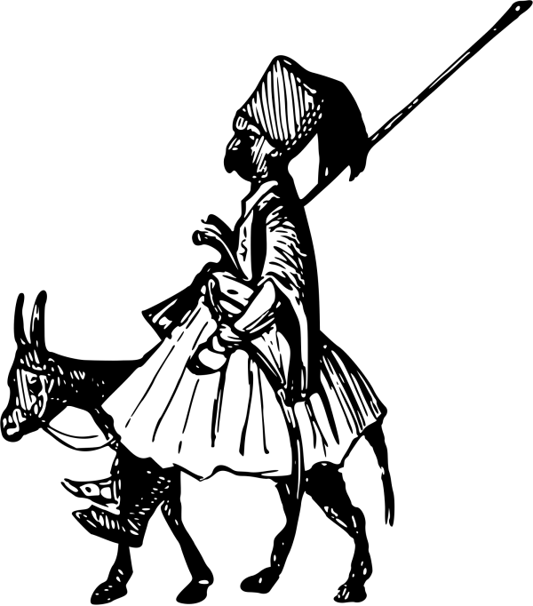 Person Riding Camel PNG Clip art