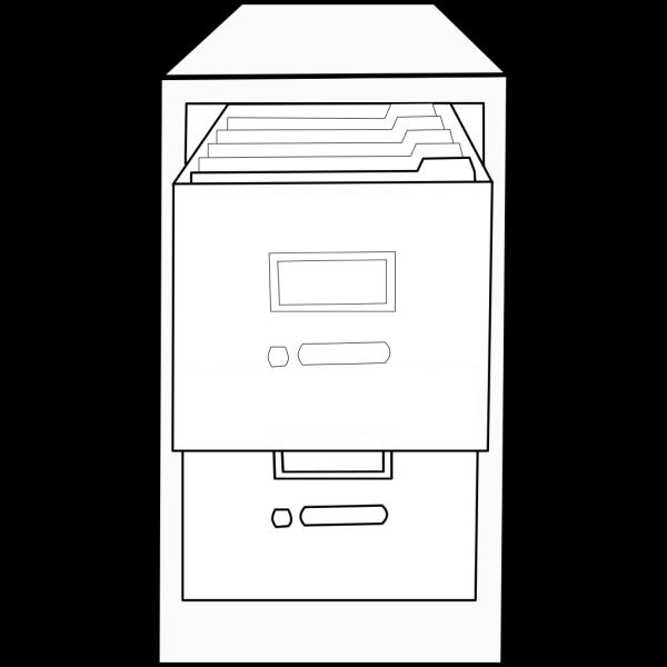 Open File Cabinet 2 PNG Clip art