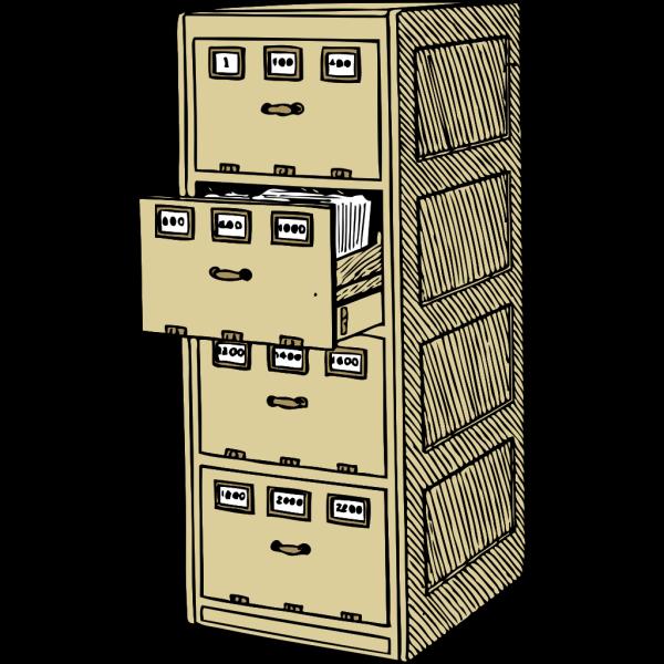Vertical File Cabinet PNG Clip art