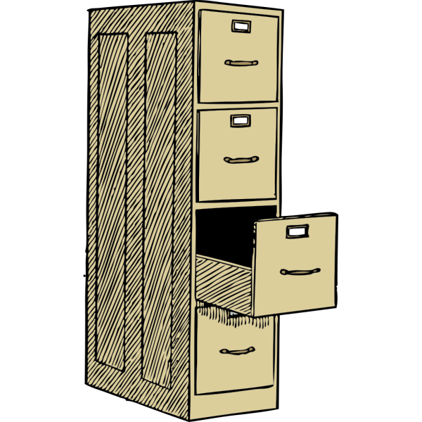File Cabinet With Drawes PNG Clip art