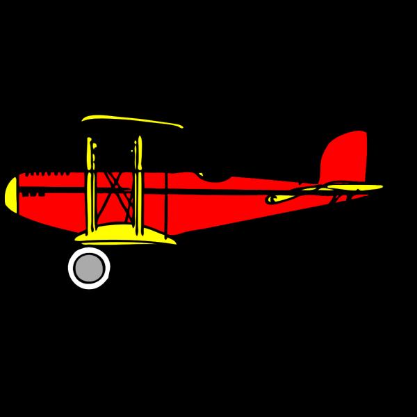 Red Blue Biplane PNG Clip art