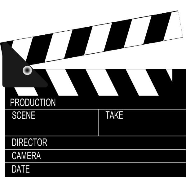 Movie Clapper Board PNG clipart