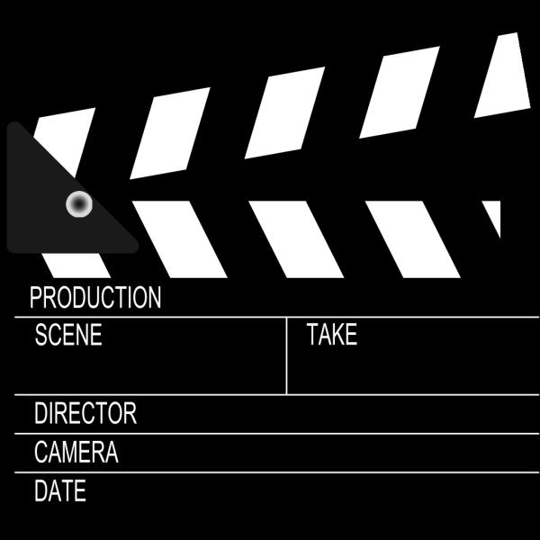 Movie Clapper Board PNG clipart