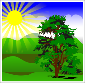Sunny Spring With Blue Sky PNG Clip art