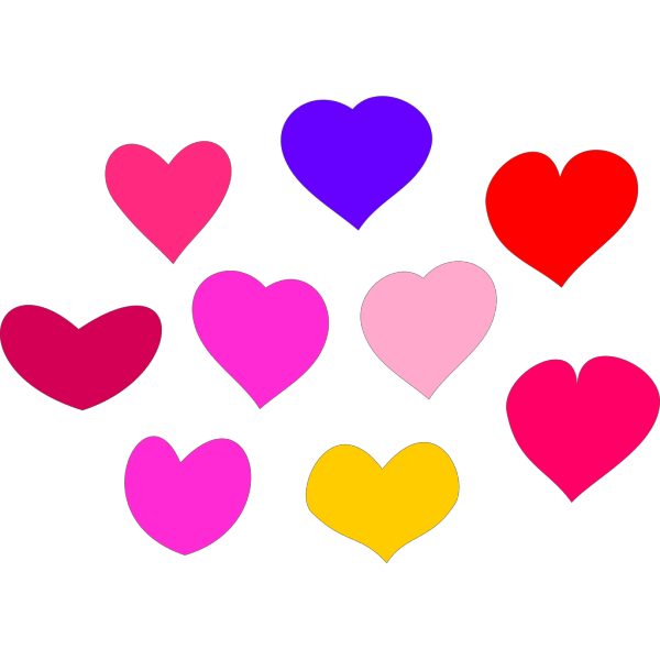 Bundle Of Hearts PNG Clip art