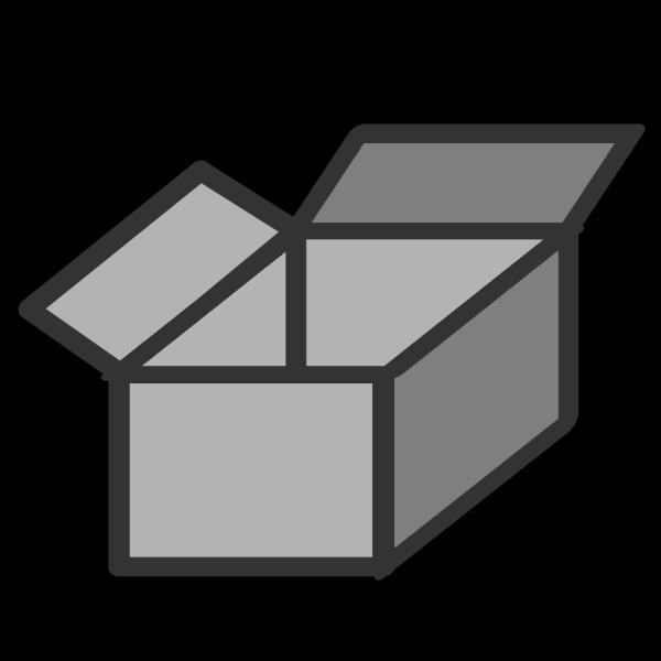 3d Empty Open Box PNG Clip art