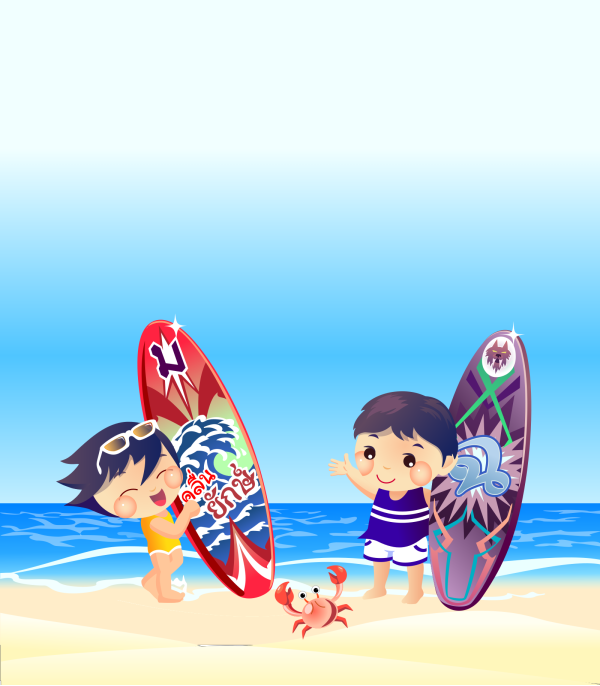 Walking On The Beach PNG Clip art