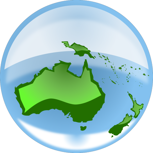 Oceania Globe PNG Clip art