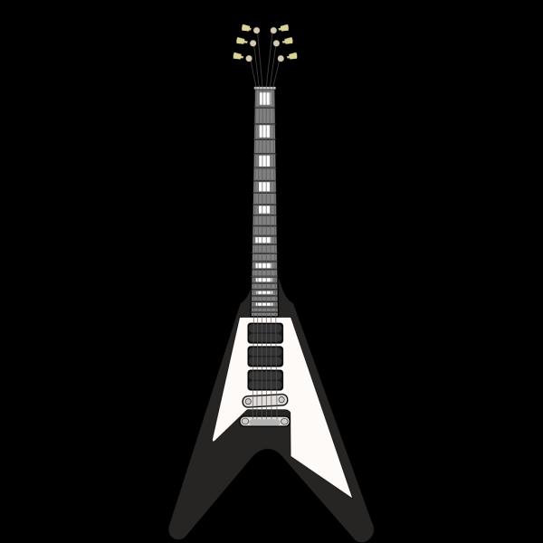 Flying V Guitar 2 PNG Clip art