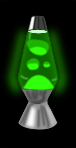 Lava Lamp Glowing Green PNG Clip art