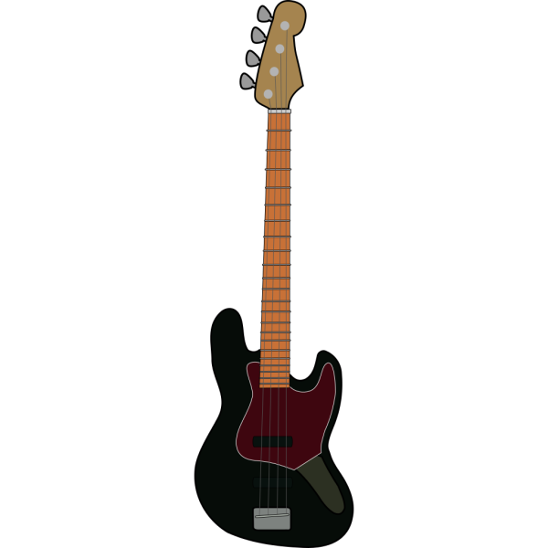 Jazz Bass Guitar PNG Clip art