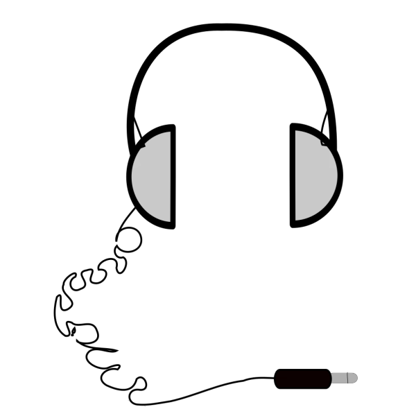 Headphones Simple PNG Clip art