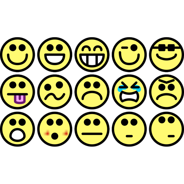 Small Smilies PNG Clip art