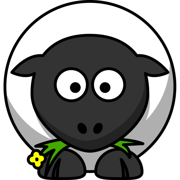 Cartoon Sheep PNG clipart