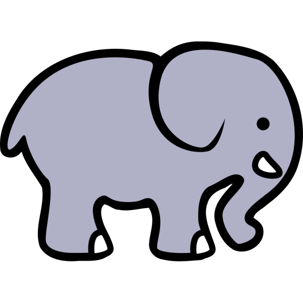 Cartoon Elephant 2 PNG Clip art